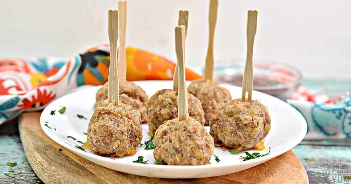 sausage balls social share image