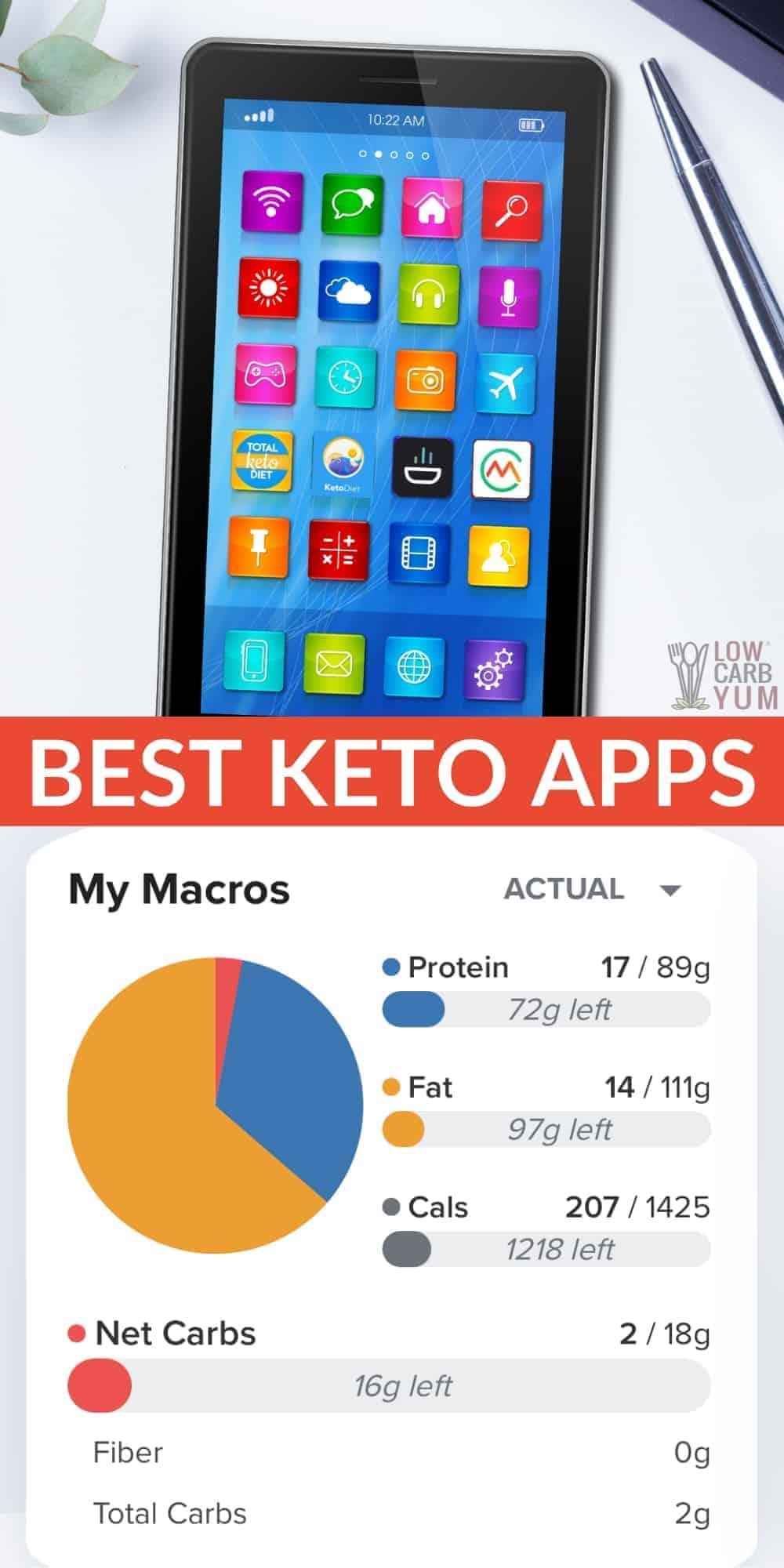 best keto apps pinterest image