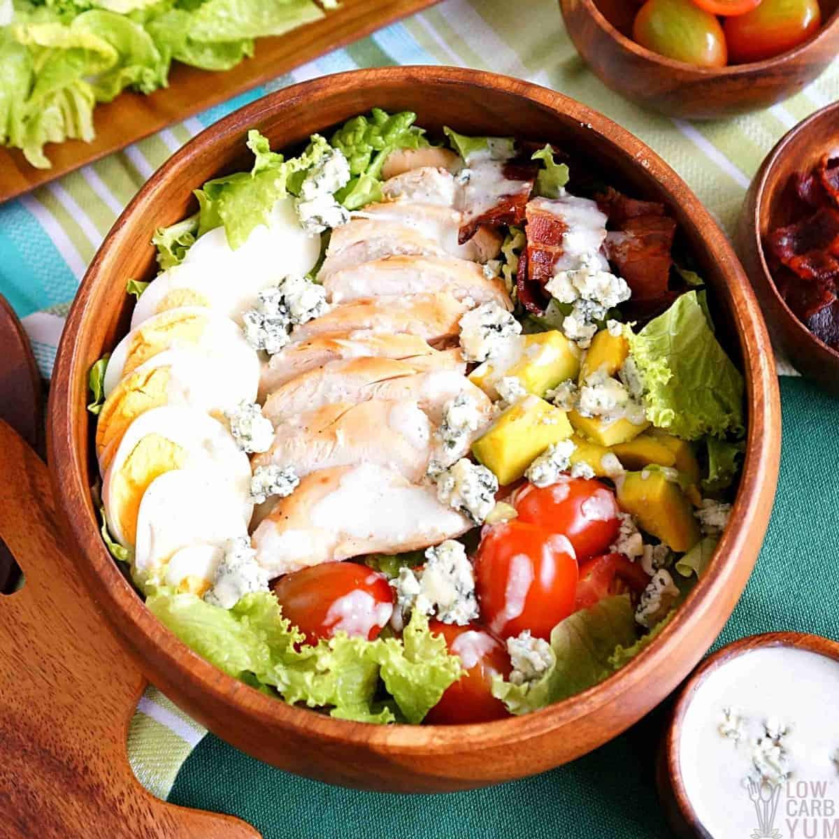 keto cobb salad featured image