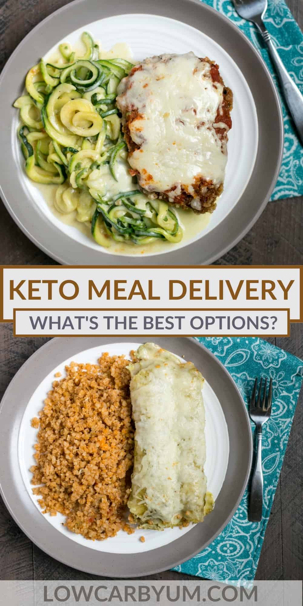 keto meal delivery pinterest image