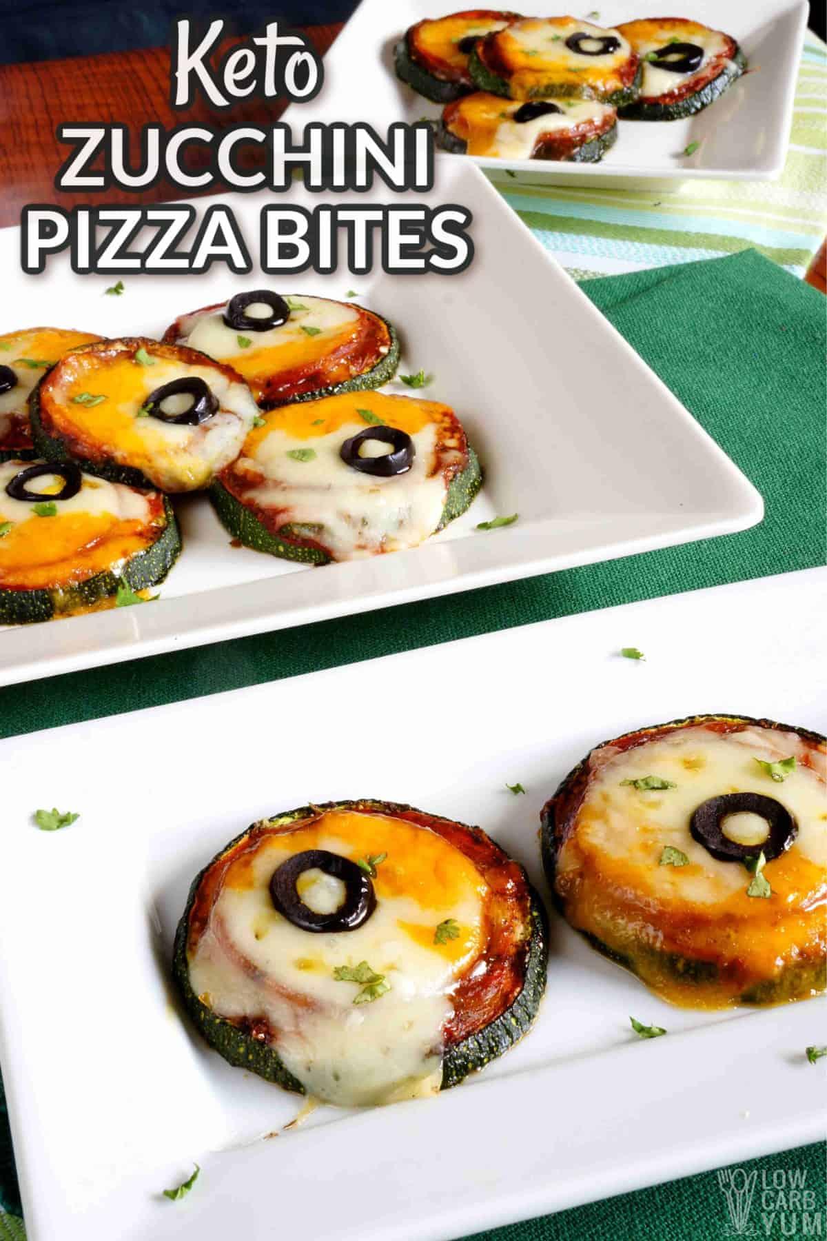 keto zucchini pizza bites cover image