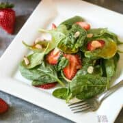 spinach strawberry salad featured image