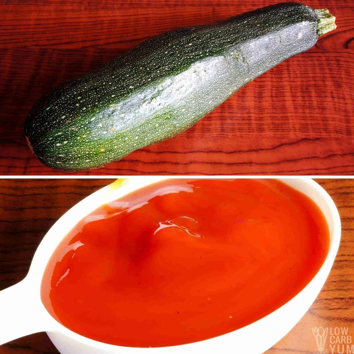 zucchini and pizza sauce