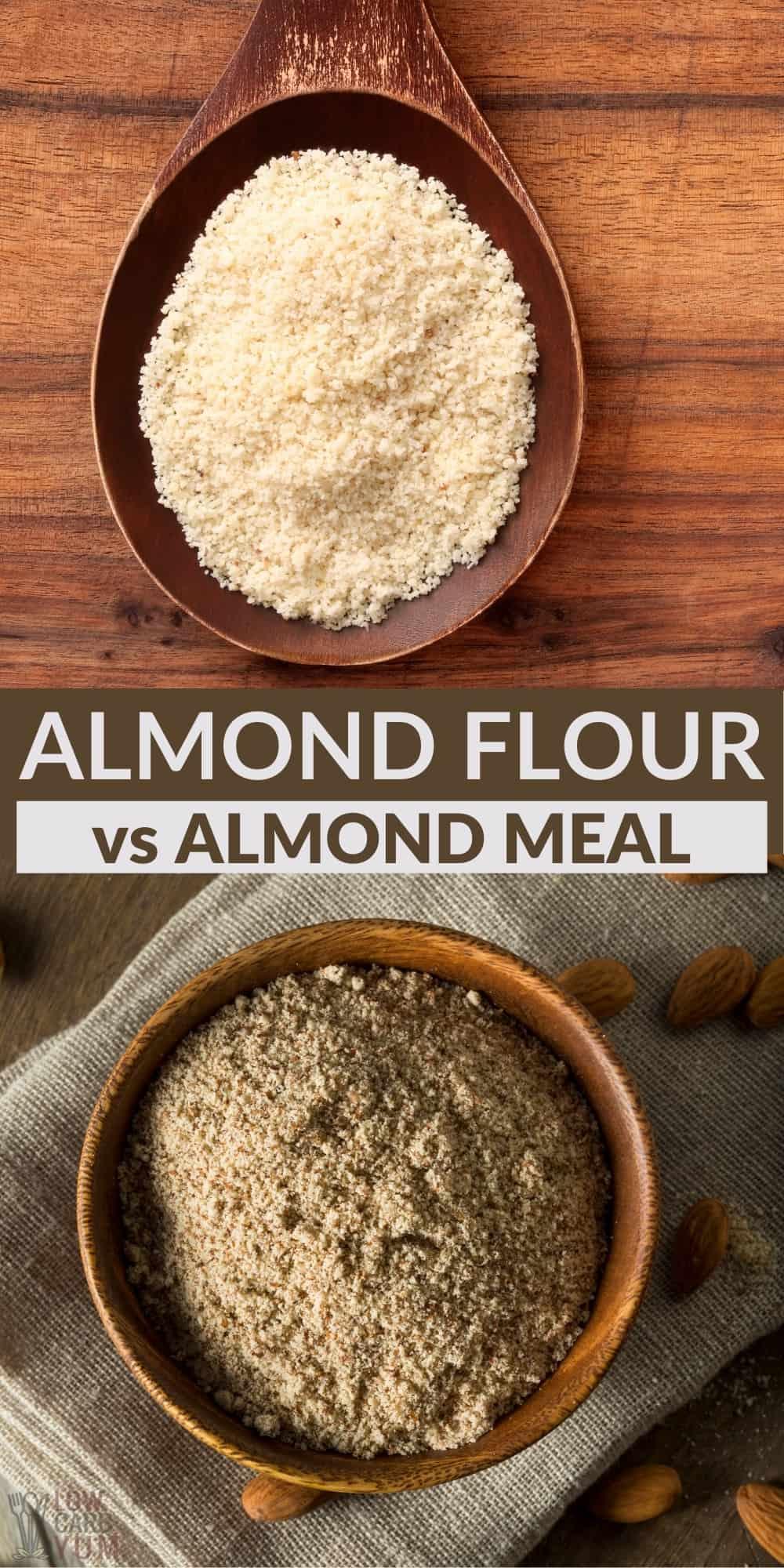 almond meal vs almond flour pinterest image