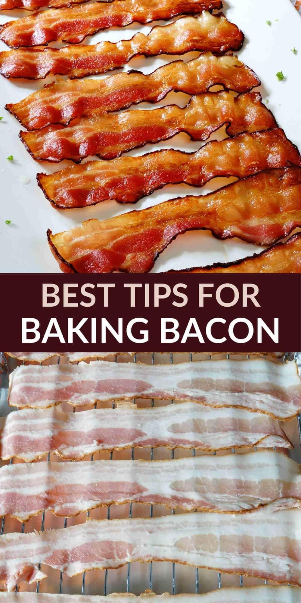 baking bacon pinterest image