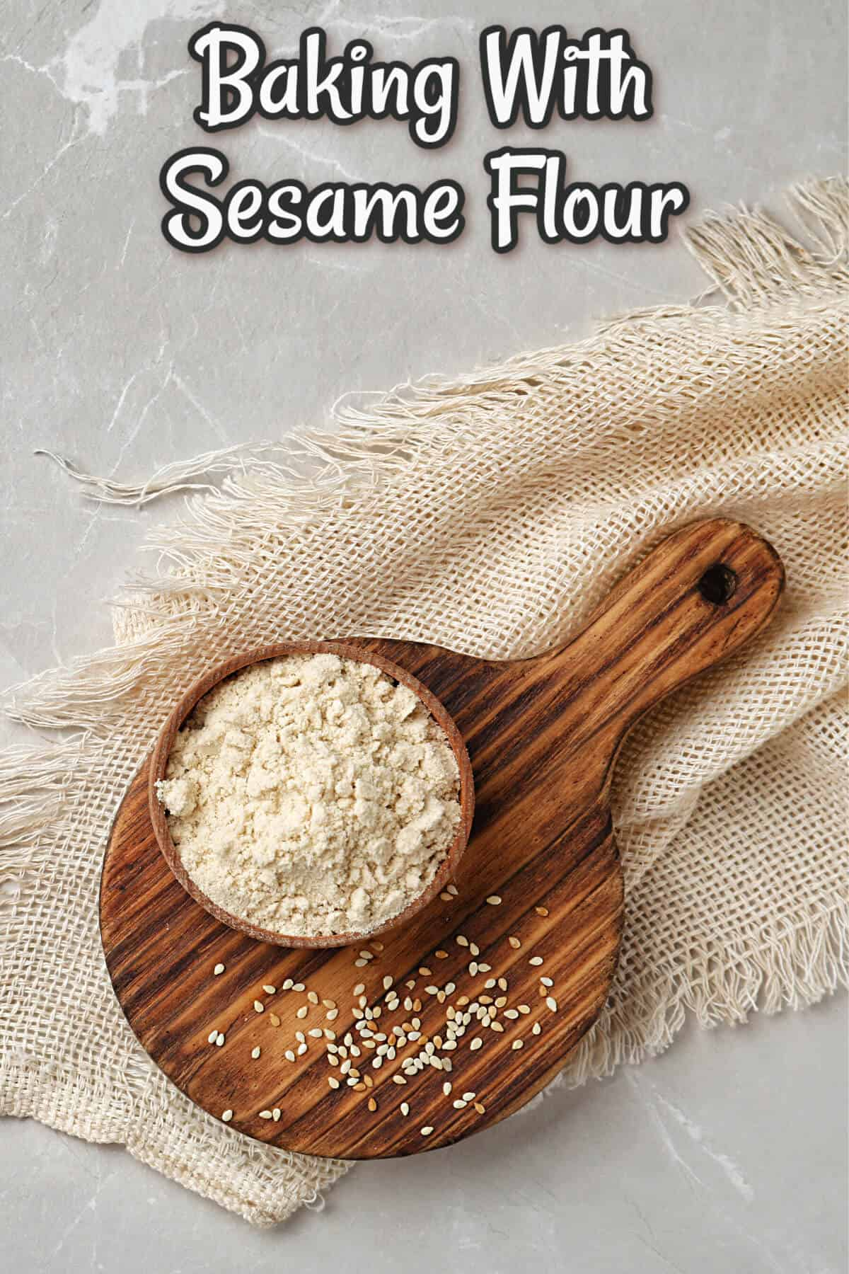 baking with sesame flour cover image