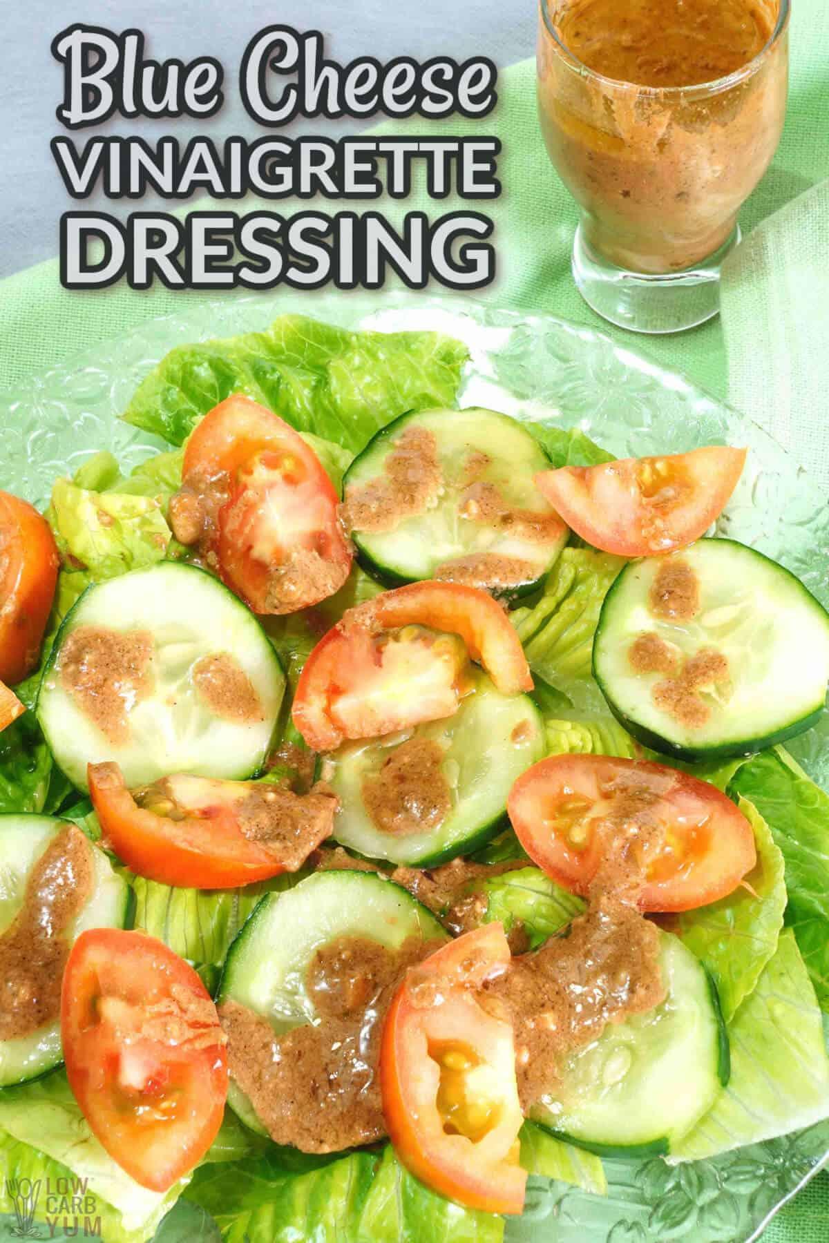 blue cheese vinaigrette dressing recipe cover image