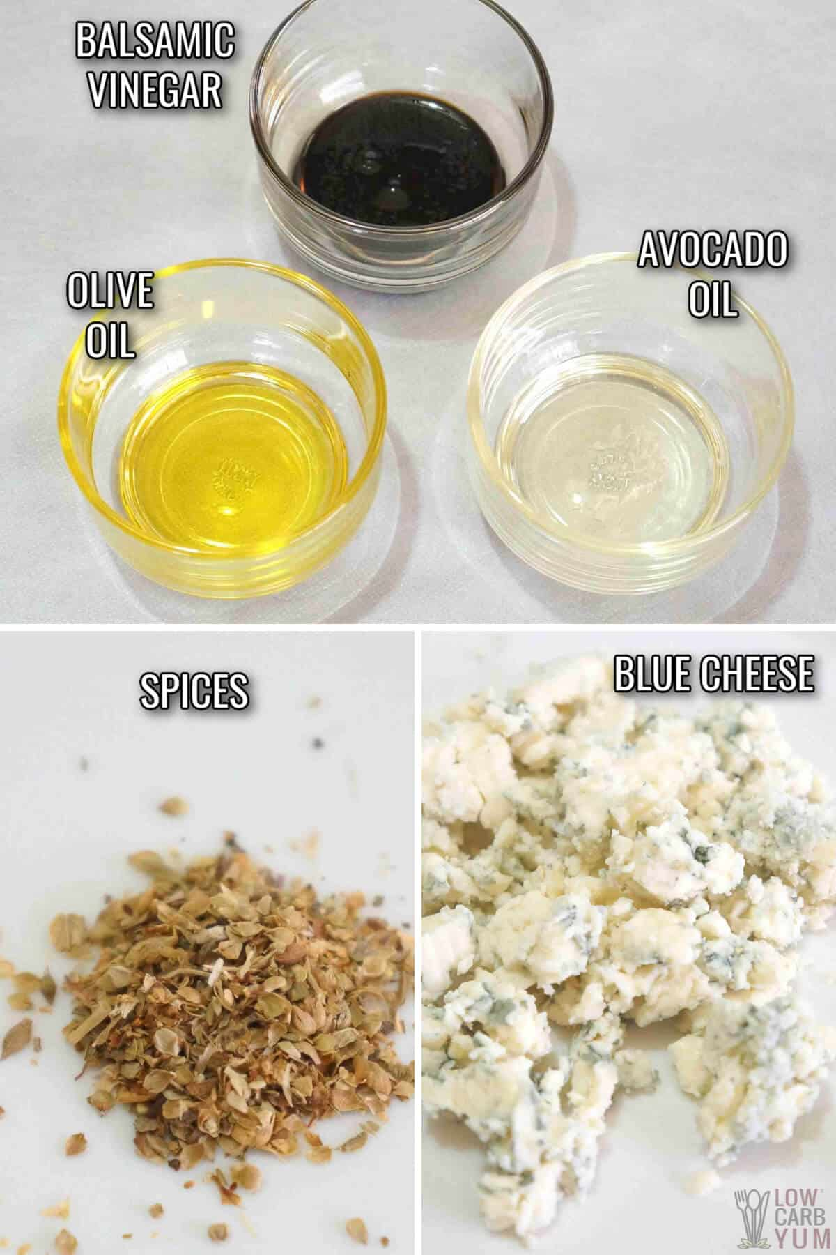 ingredients for blue cheese vinaigrette