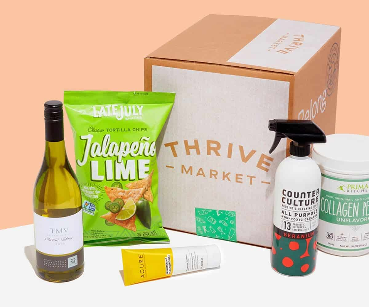 box of items of thrive market