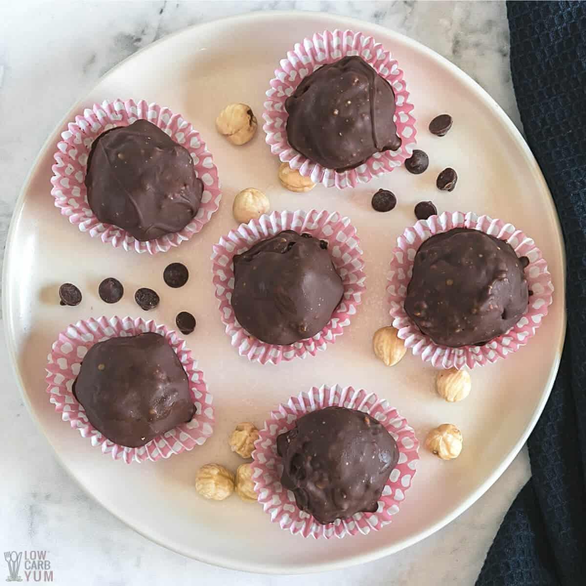 chocolate hazelnut candy balls featured image