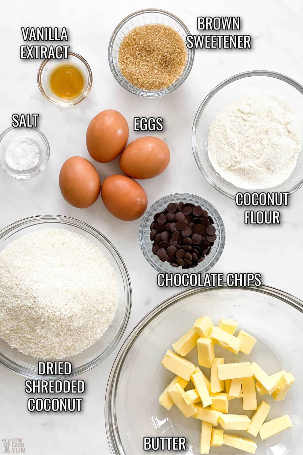 coconut chocolate chip cookie recipe ingredients