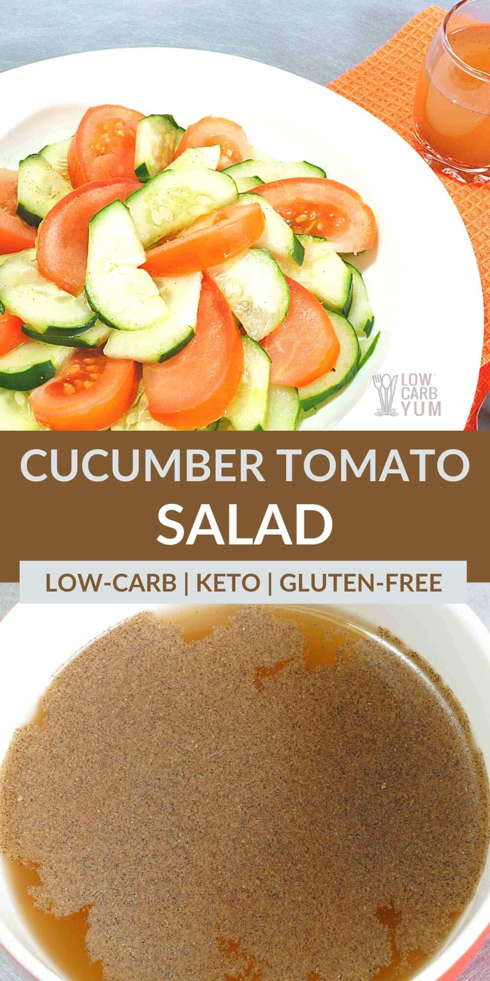 cucumber and tomato salad pinterest image