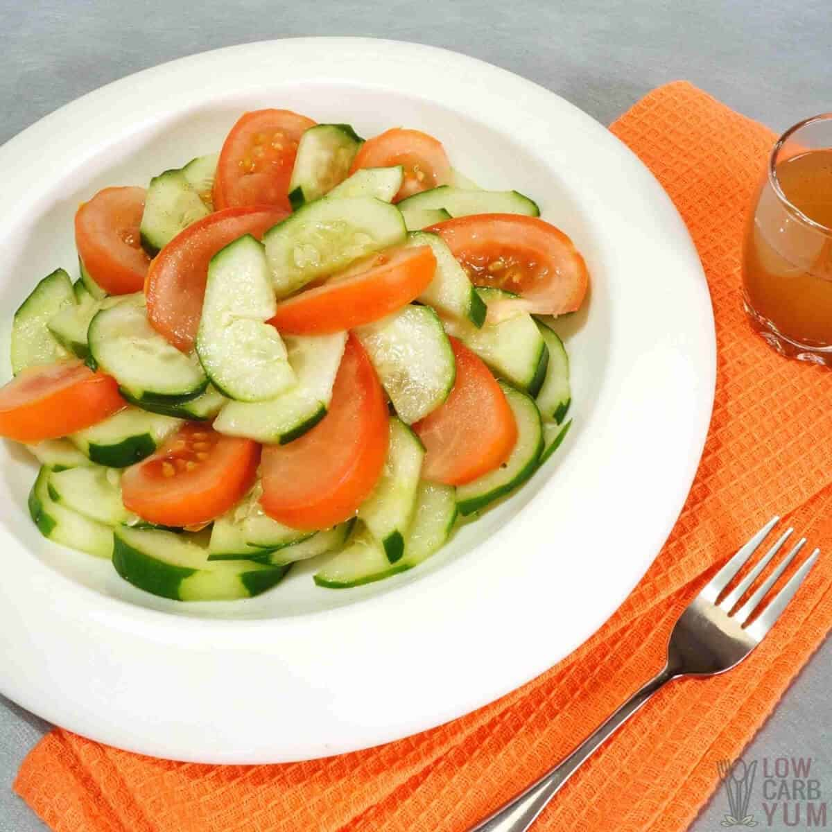 cucumber tomato salad featured image