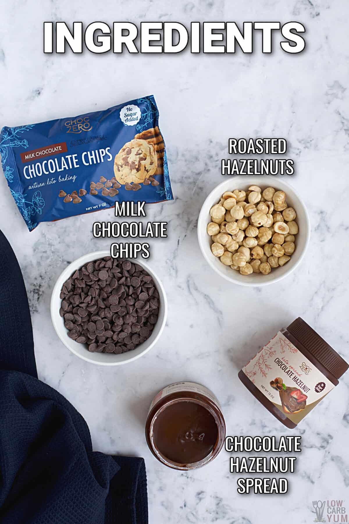 ingredients used in hazelnut chocolate balls recipe