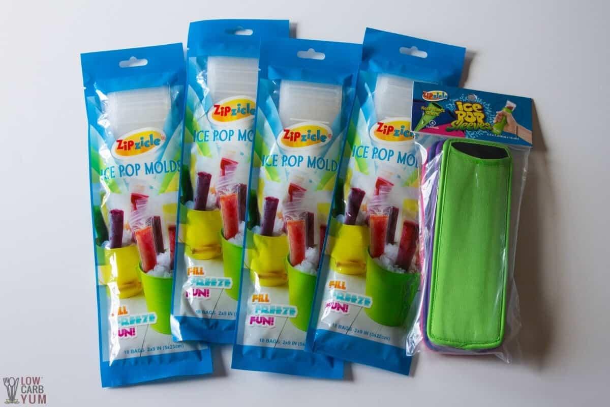 ice pop bags and koozie