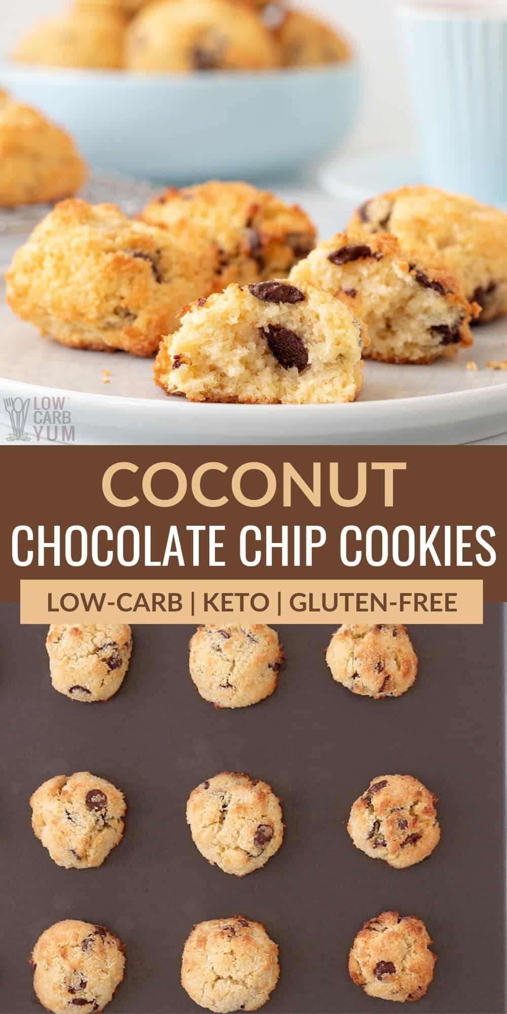 coconut chocolate chip cookies pinterest image