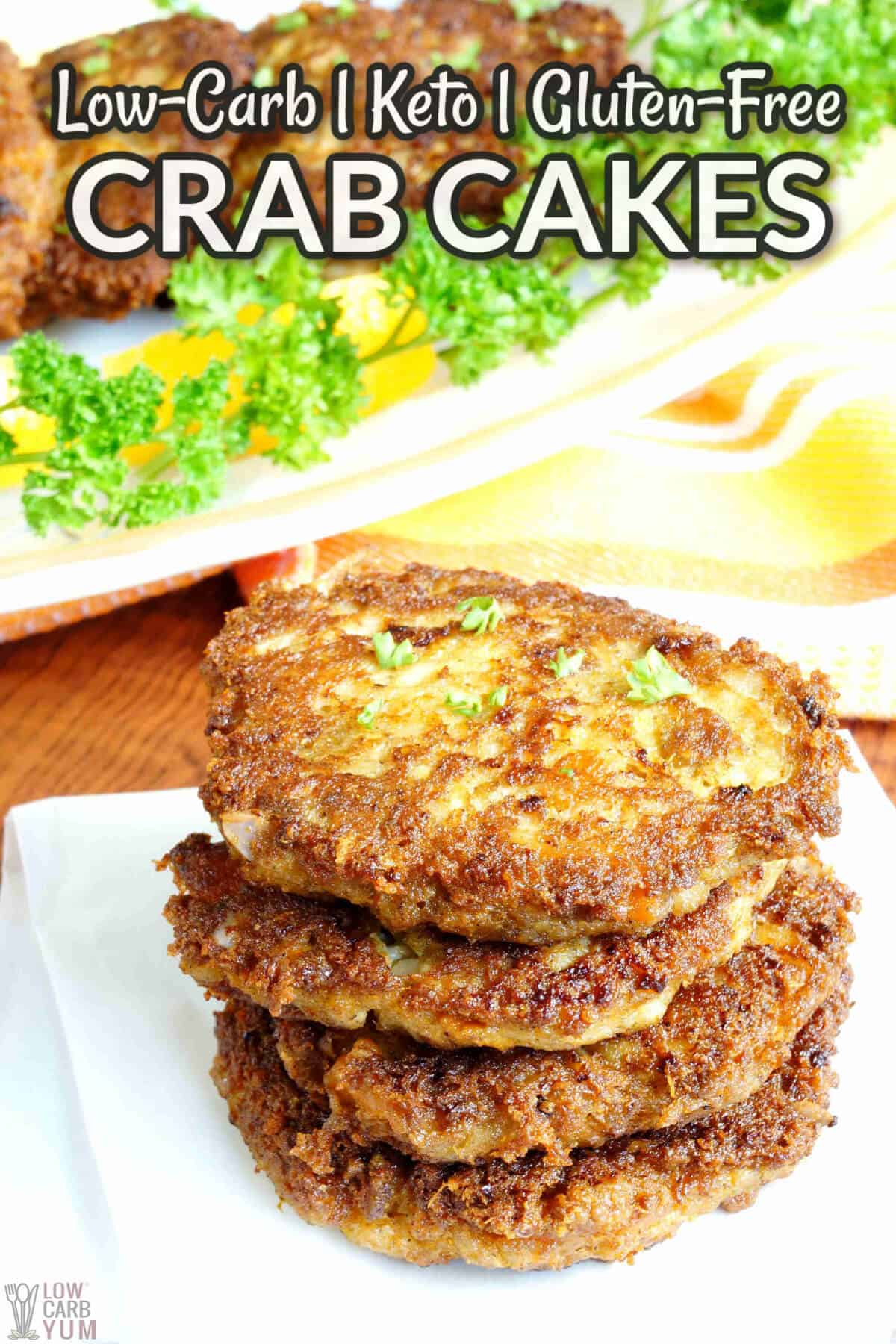 keto crab cakes cover image