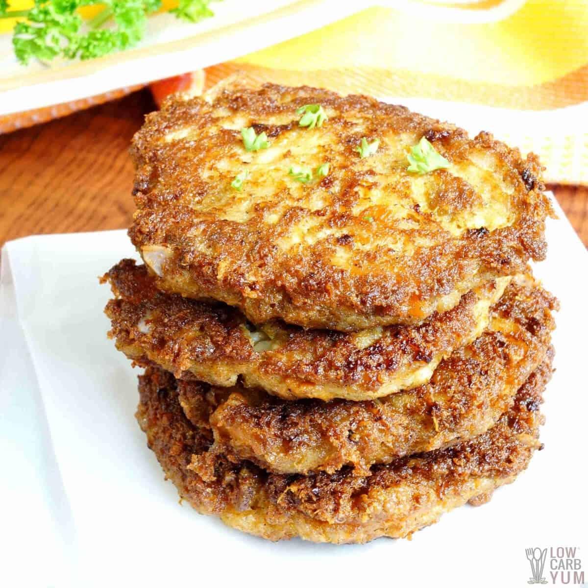 keto crab cakes featured image