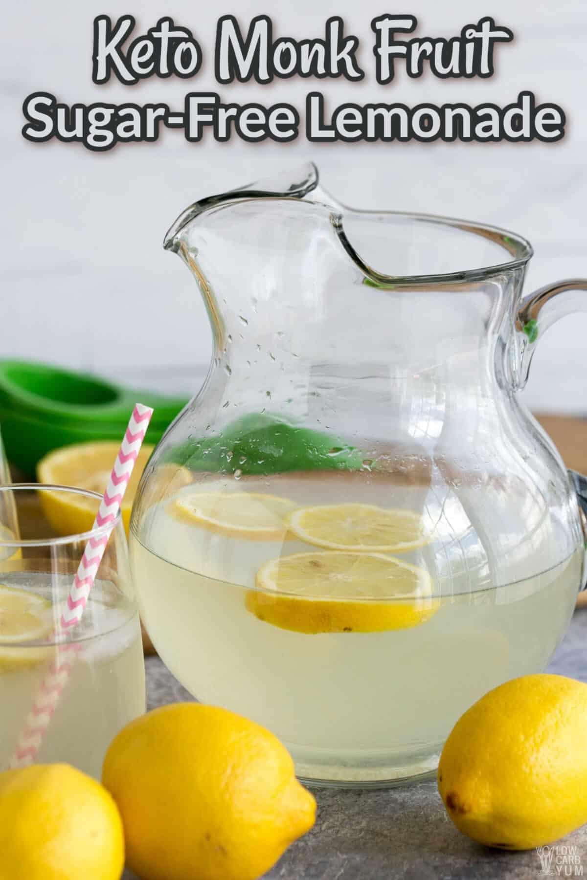 monk fruit sugar free lemonade cover image