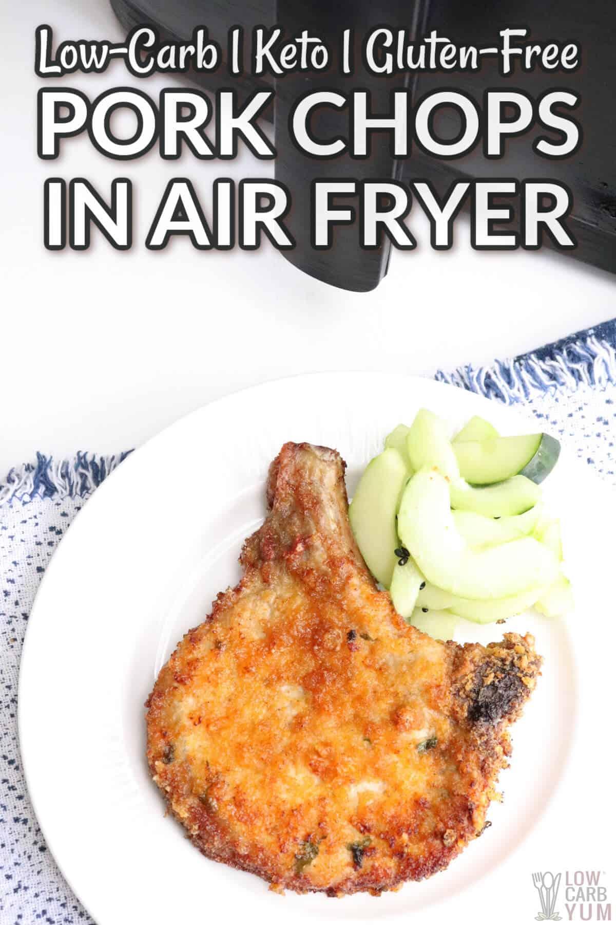 pork chops in air fryer cover image