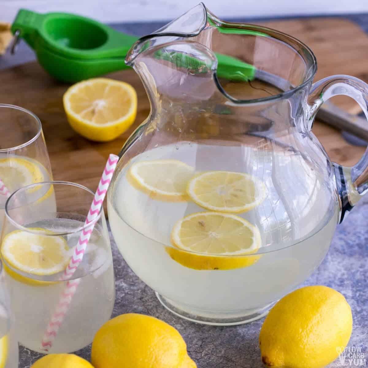 serving the lemonade in glasses