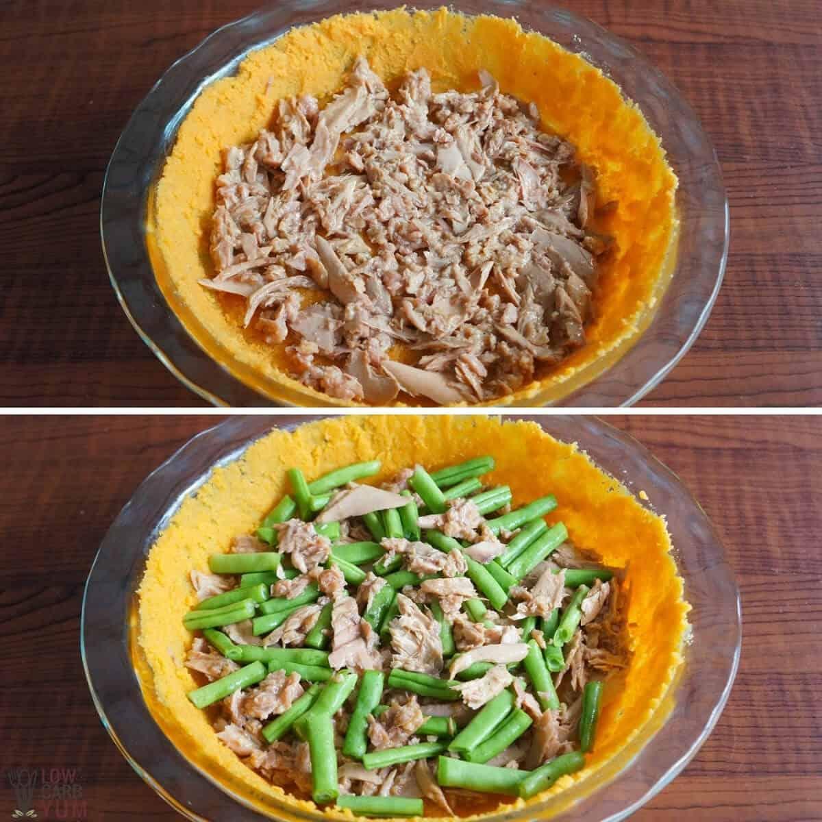 tuna green bean pie filling