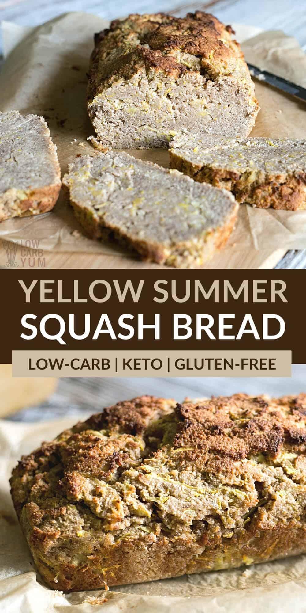 yellow summer squash bread pinterest image