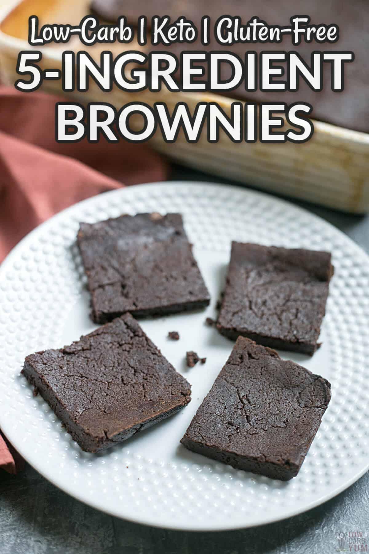 5 ingredient keto brownies cover image