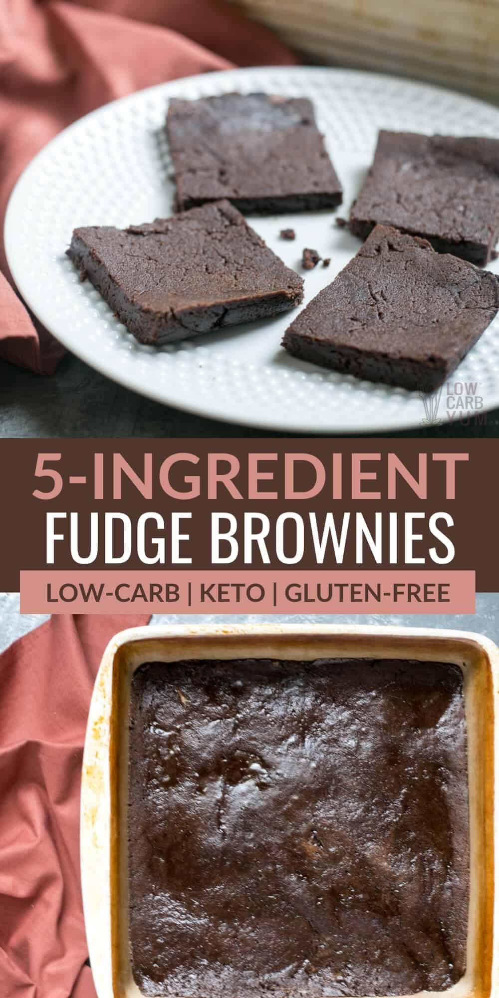 5-ingredient fudge brownies pinterest image