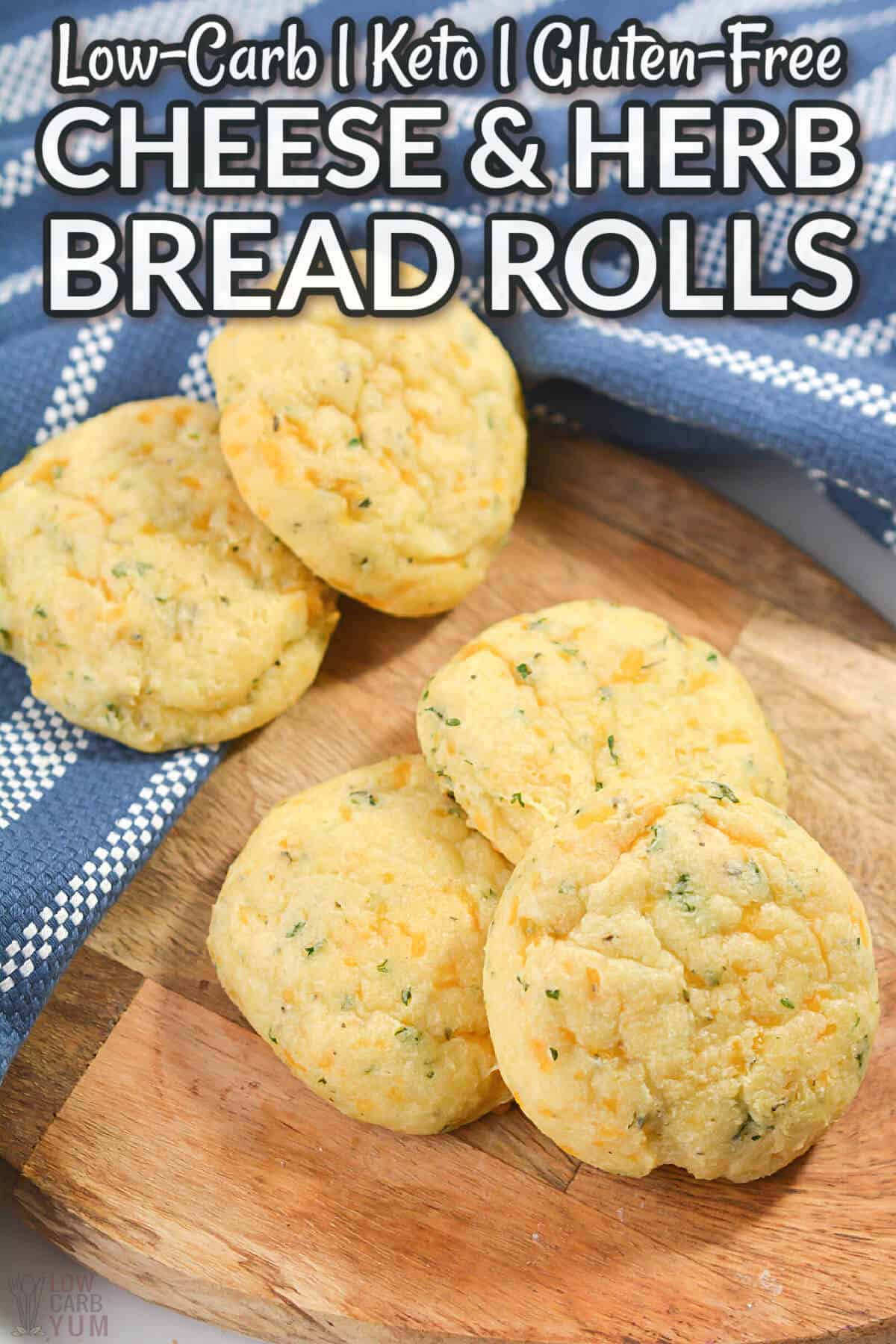 cheese and herb bread rolls cover image
