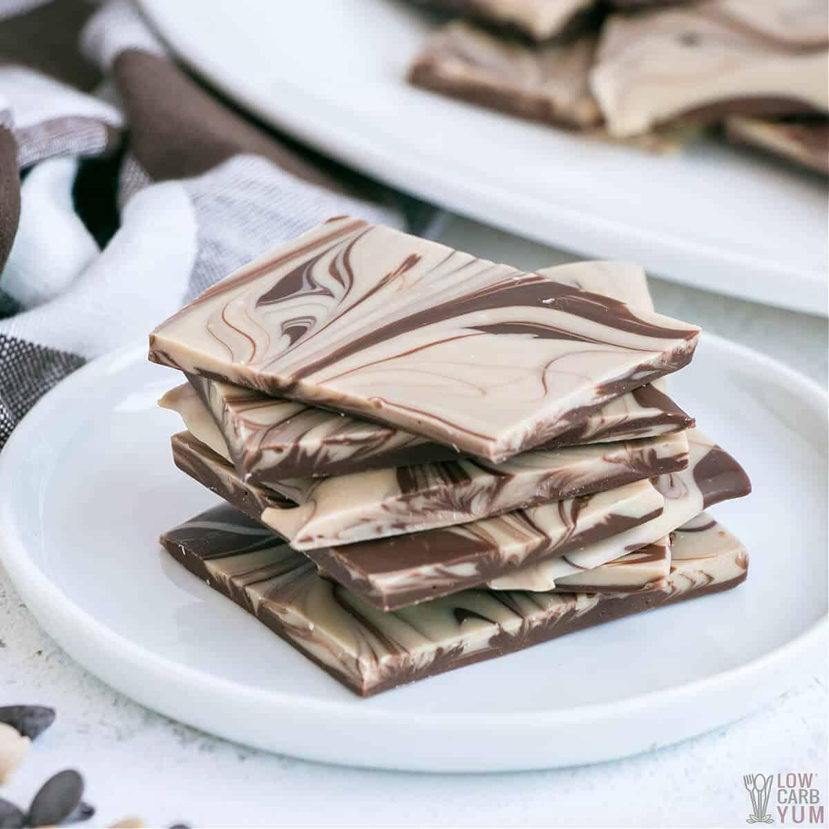 chocolate peanut butter bark featured image