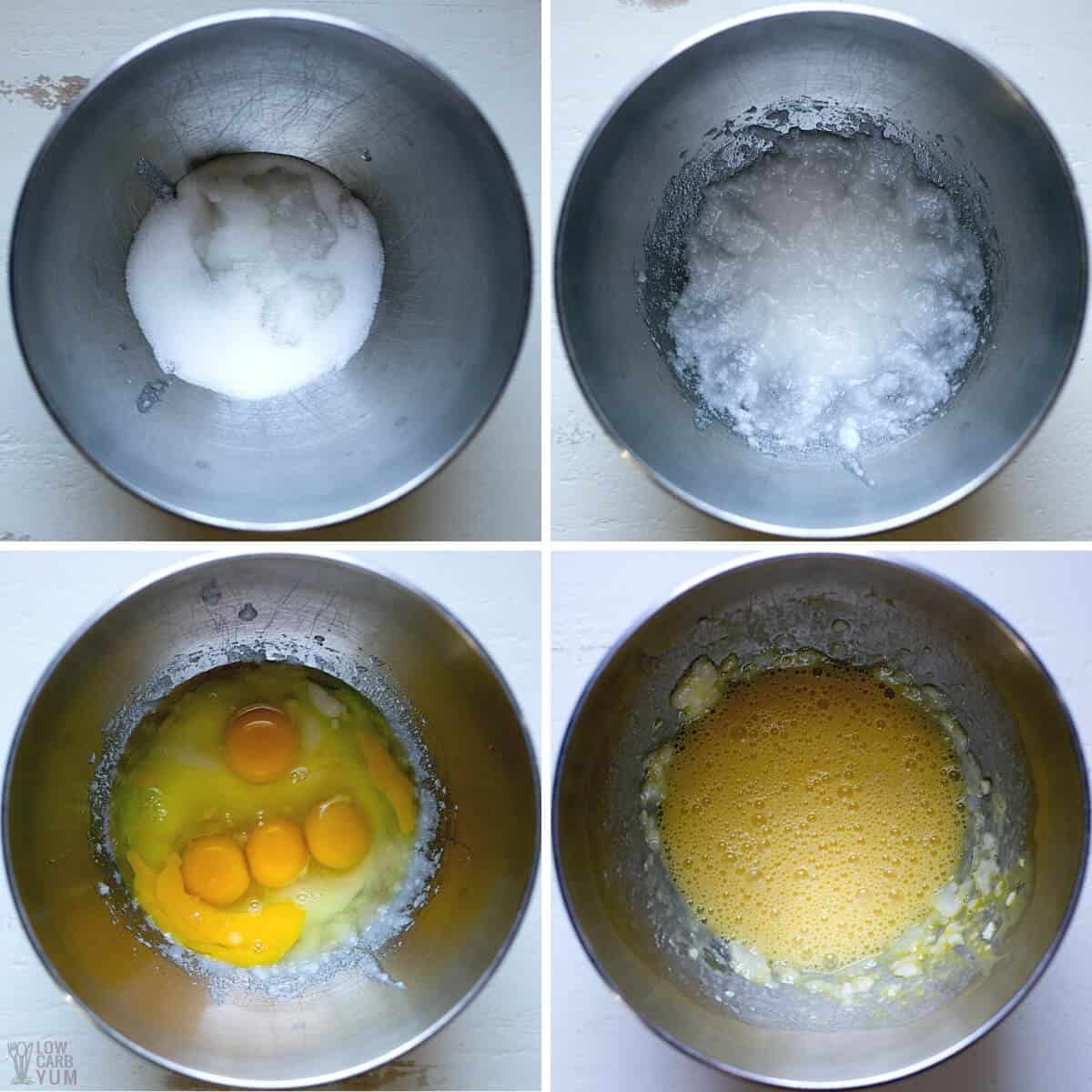 initial steps for muffin batter