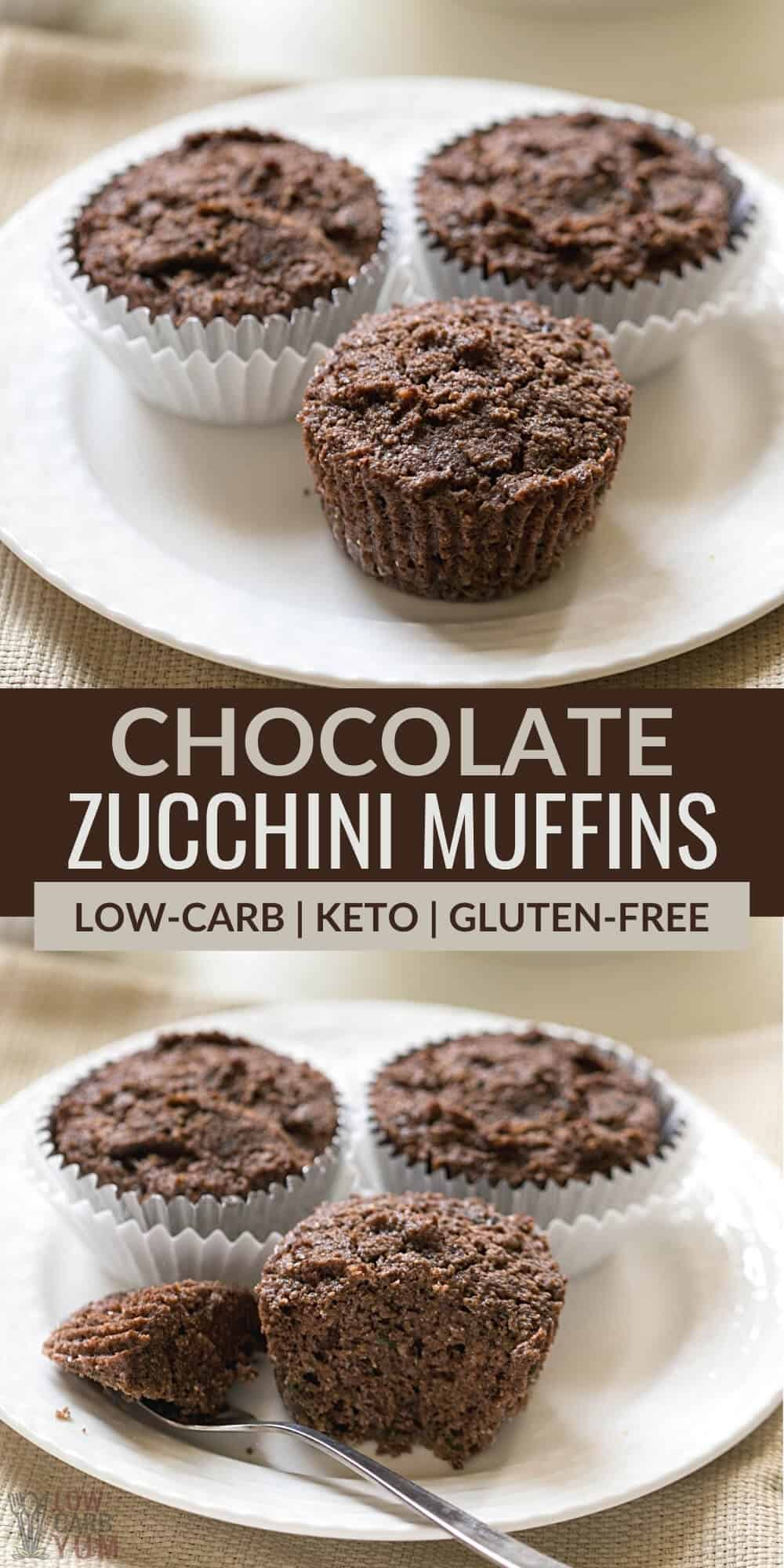 chocolate zucchini muffins pinterest image