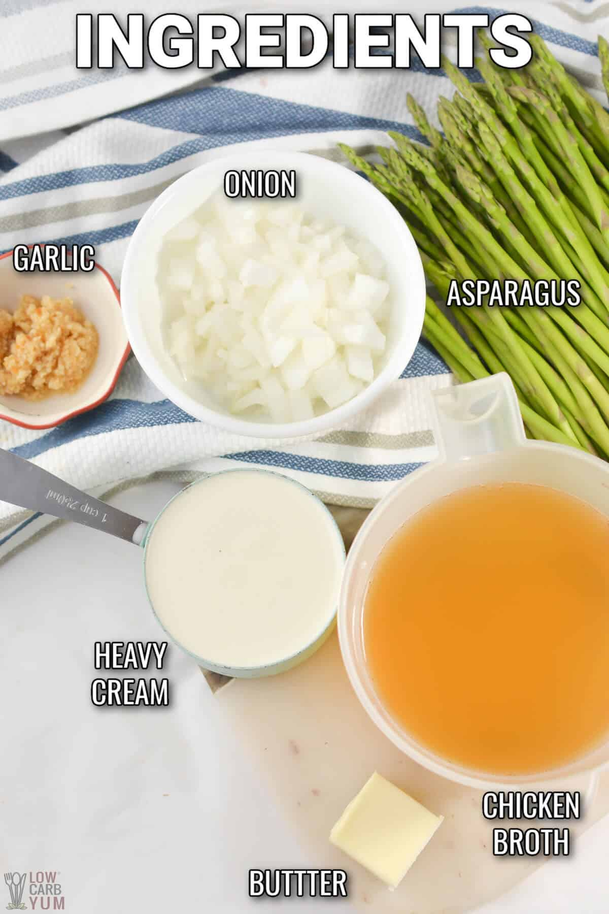 cream of asparagus soup ingredients