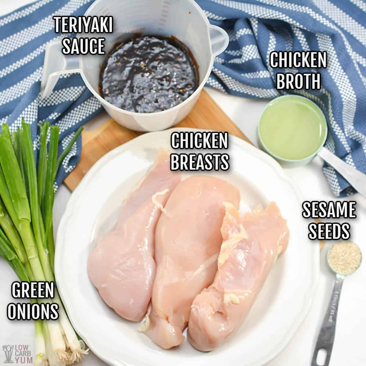 ingredients for keto teriyaki chicken