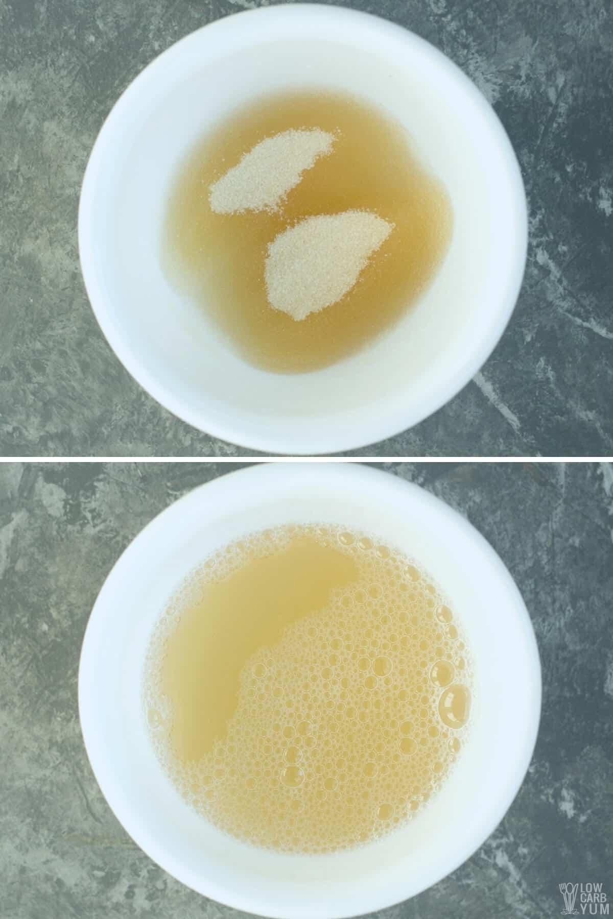 gelatin water mixture