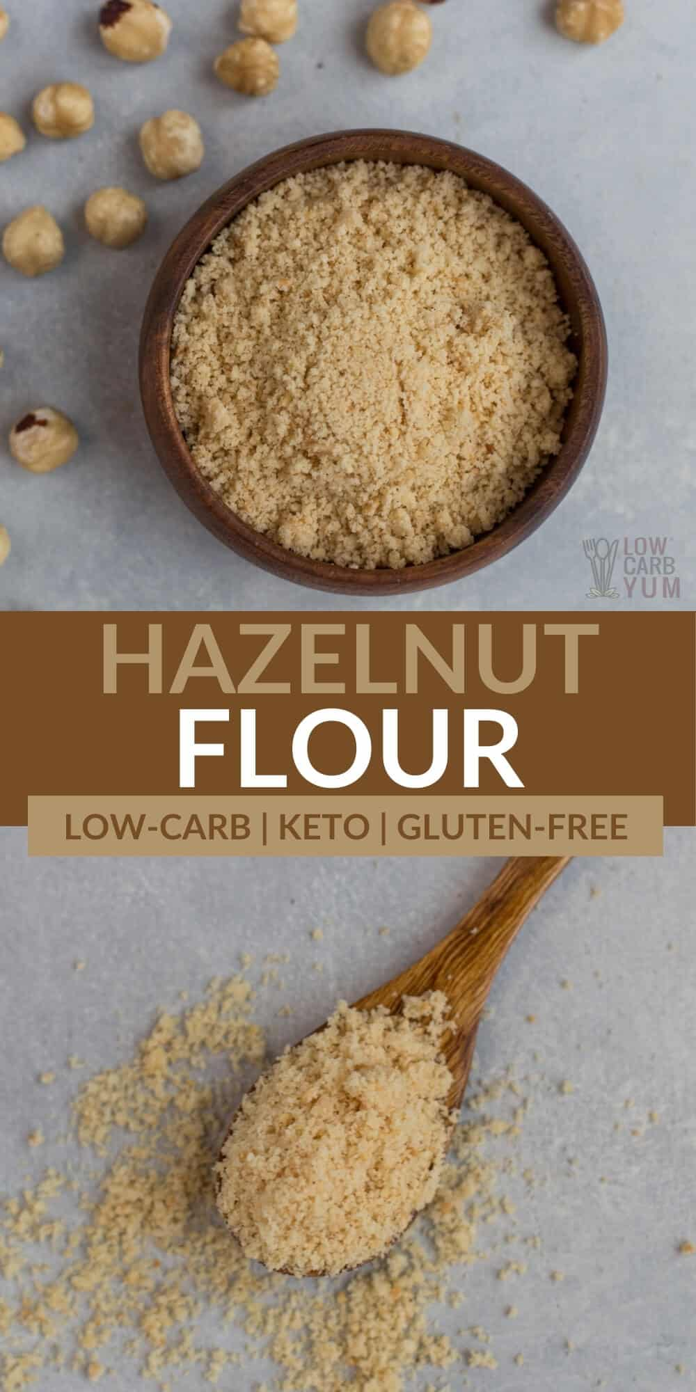 hazelnut flour pinterest image