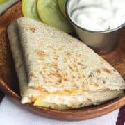 keto cheese squash quesadilla featured image