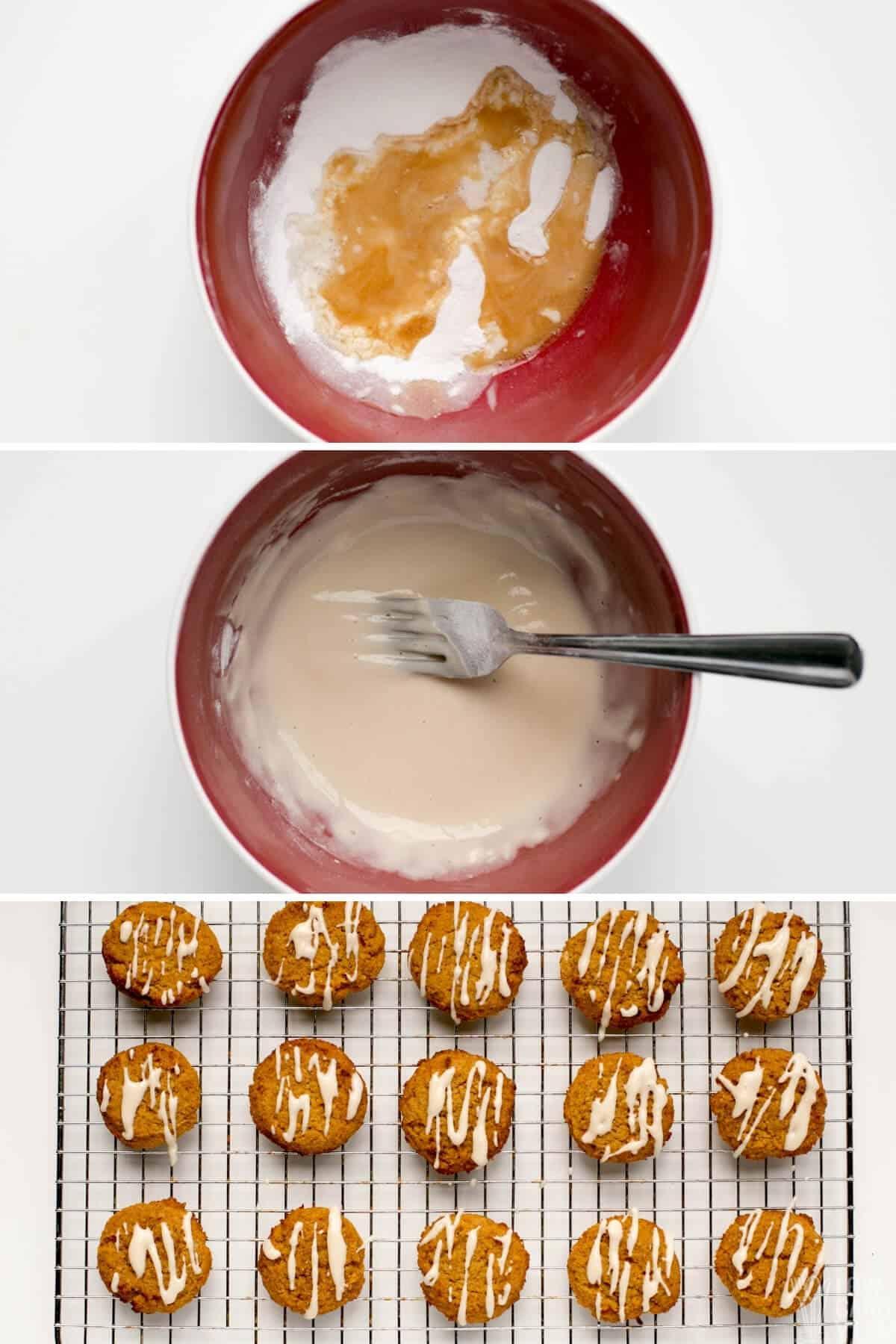 keto pumpkin cookie glaze