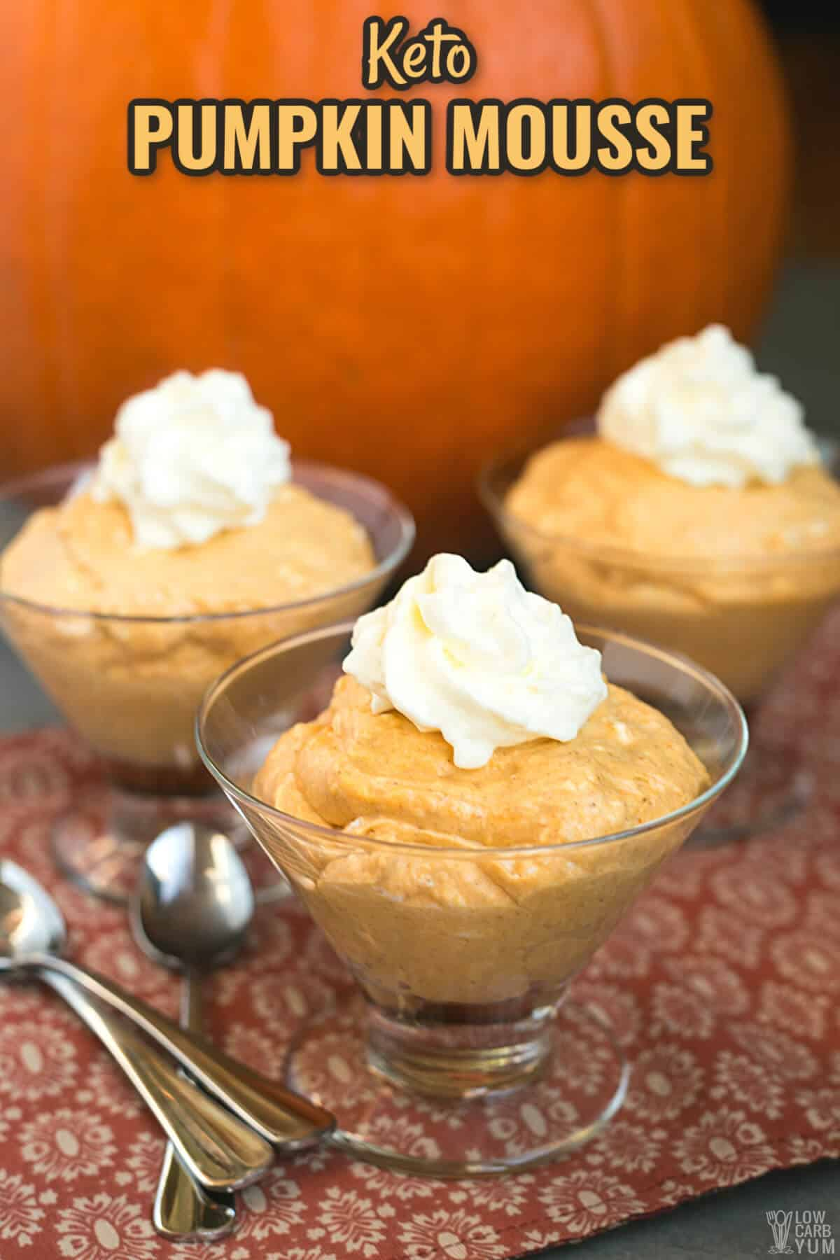 keto pumpkin mousse cover image