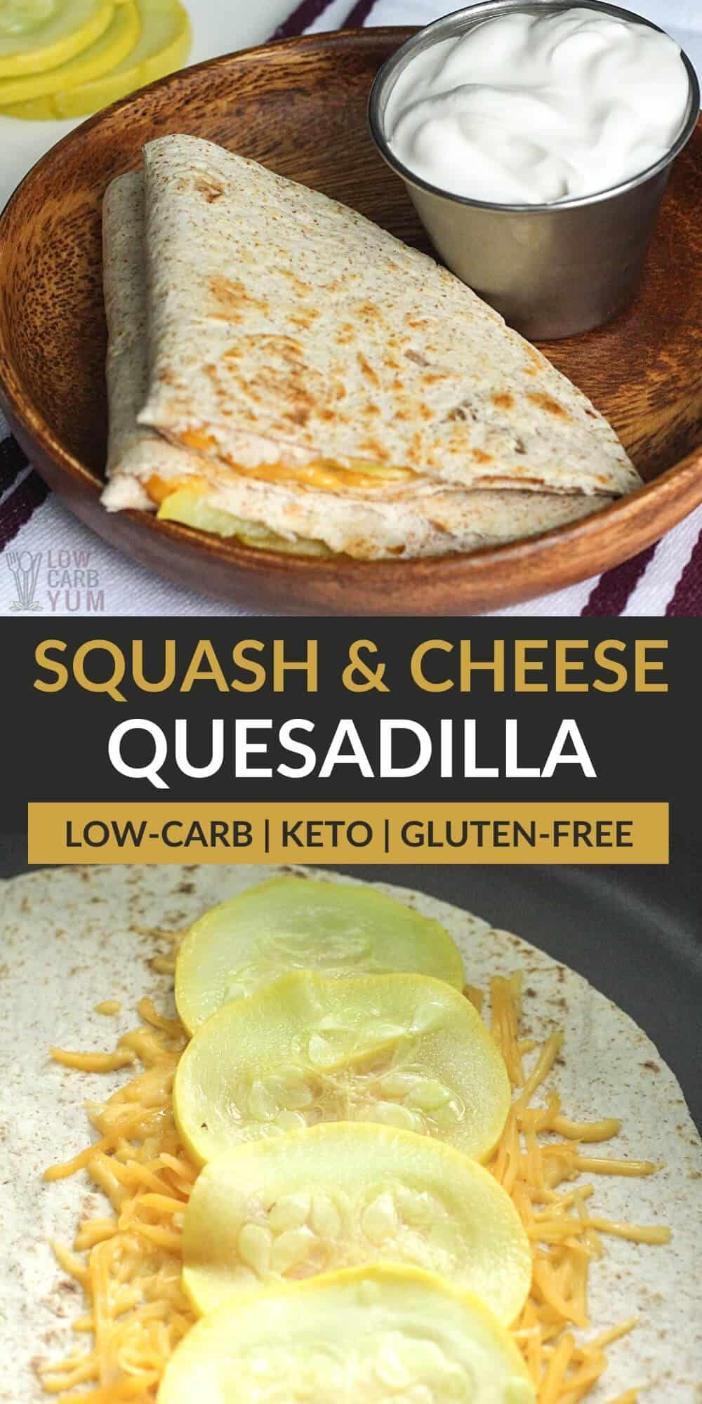 squash and cheese quesadilla pinterest image