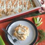paleo buffalo chicken casserole featured image