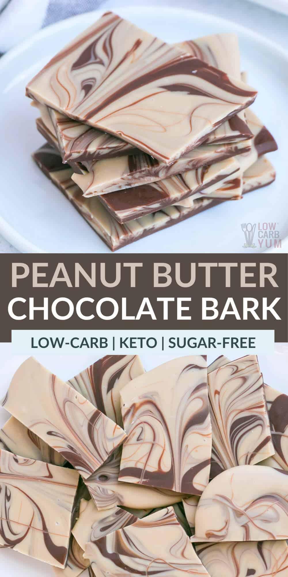 peanut butter chocolate bark pinterest image