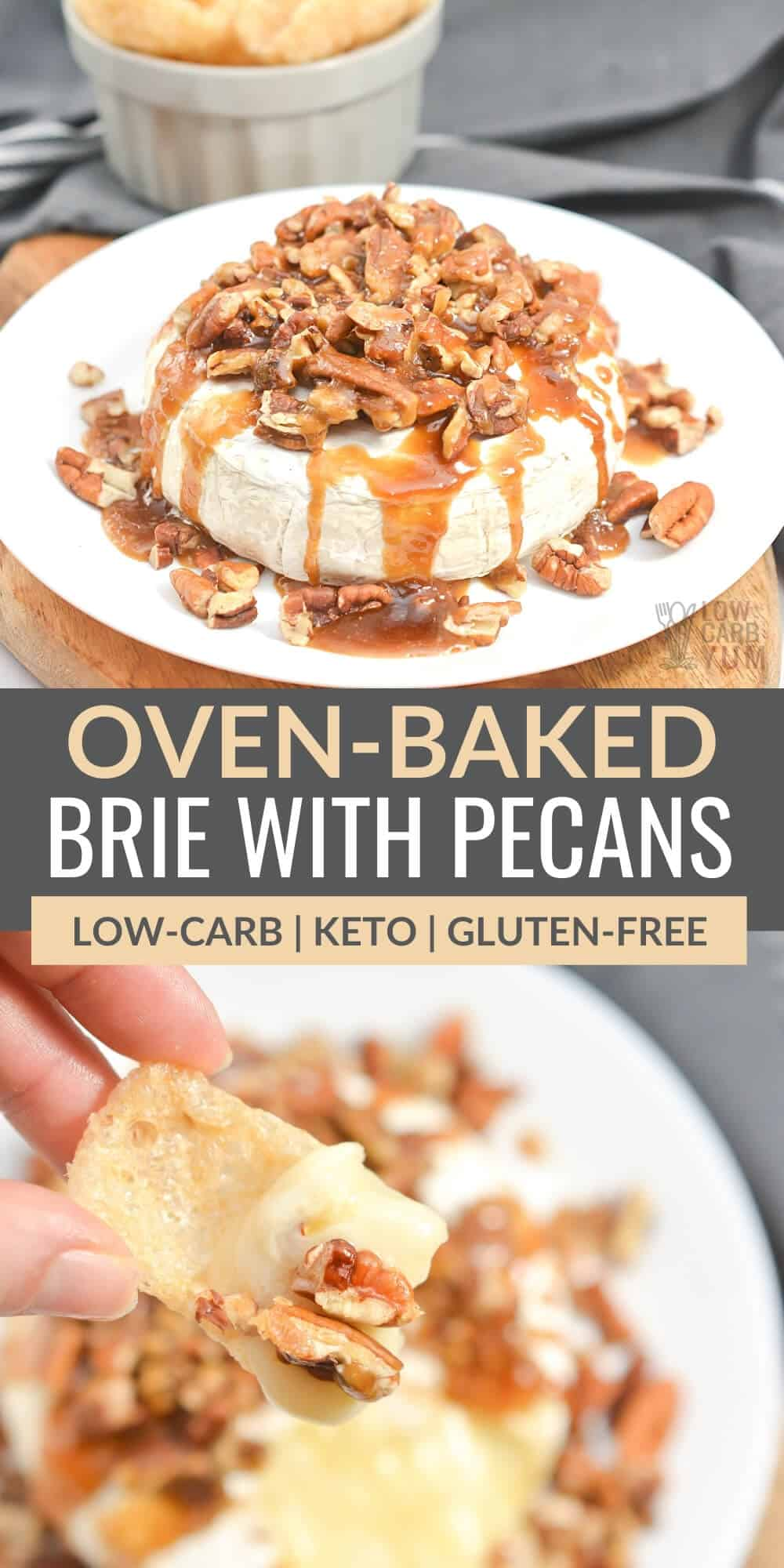 oven baked brie with pecans