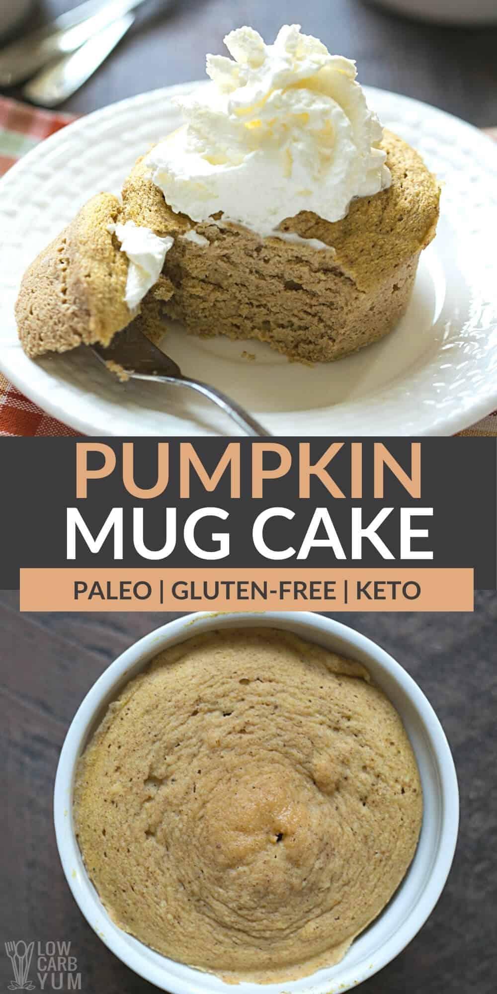 pumpkin mug cake pinterest image