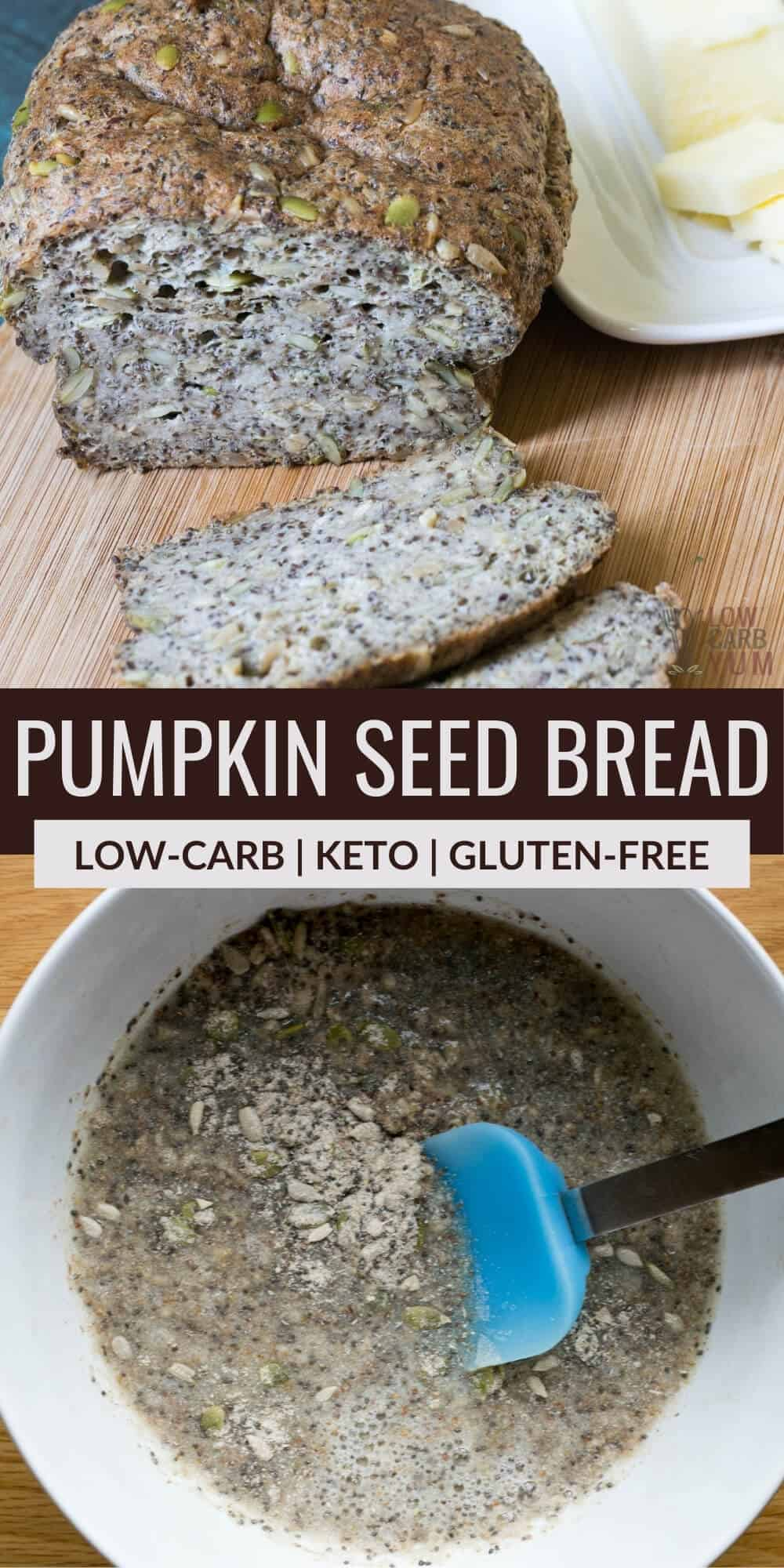 pumpkin seed bread pinterest imgage