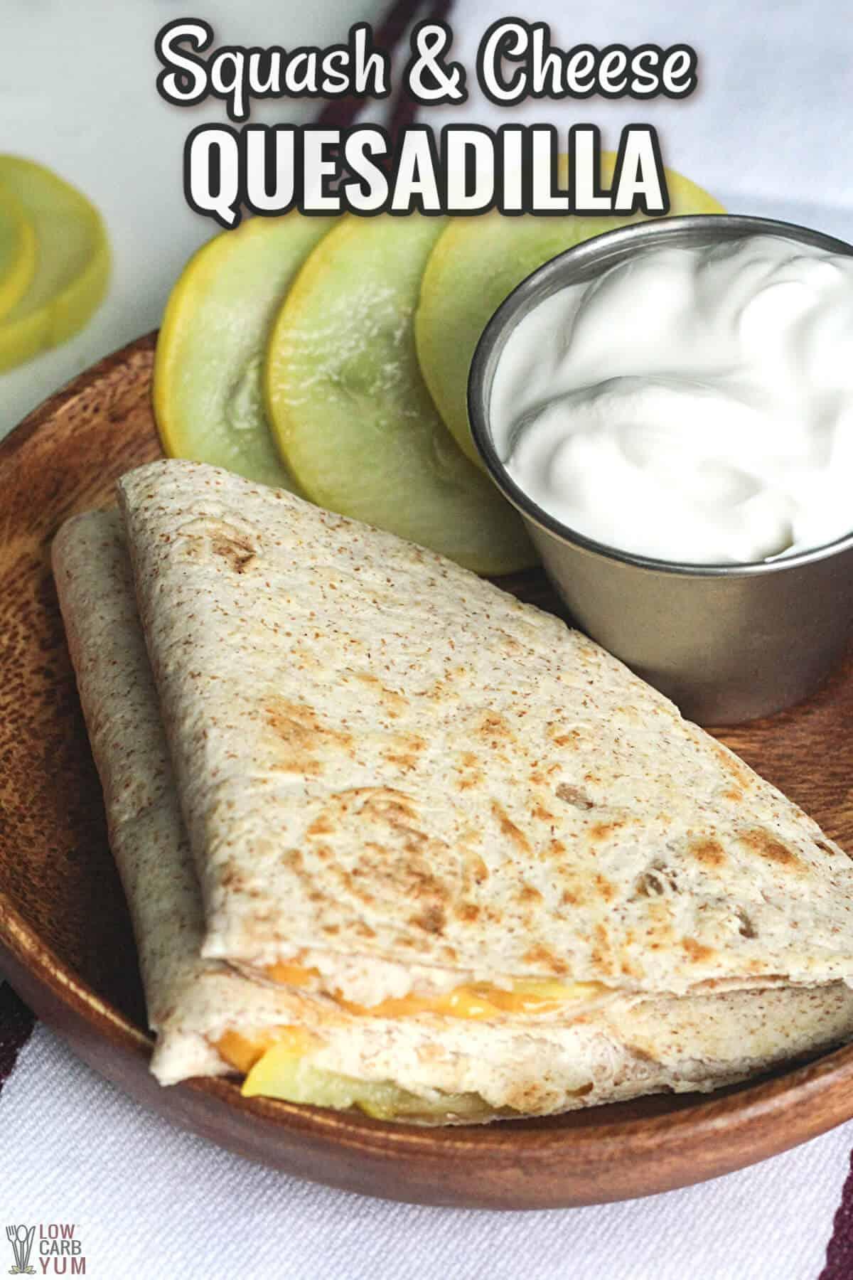 squash cheese quesadilla cover image