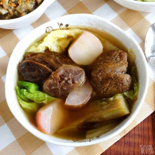 vegetable beef soup featured image