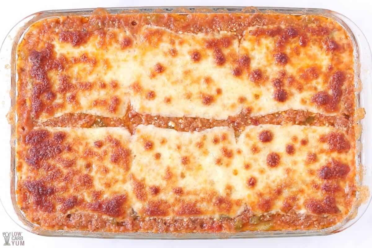 baked unstuffed pepper casserole in pan