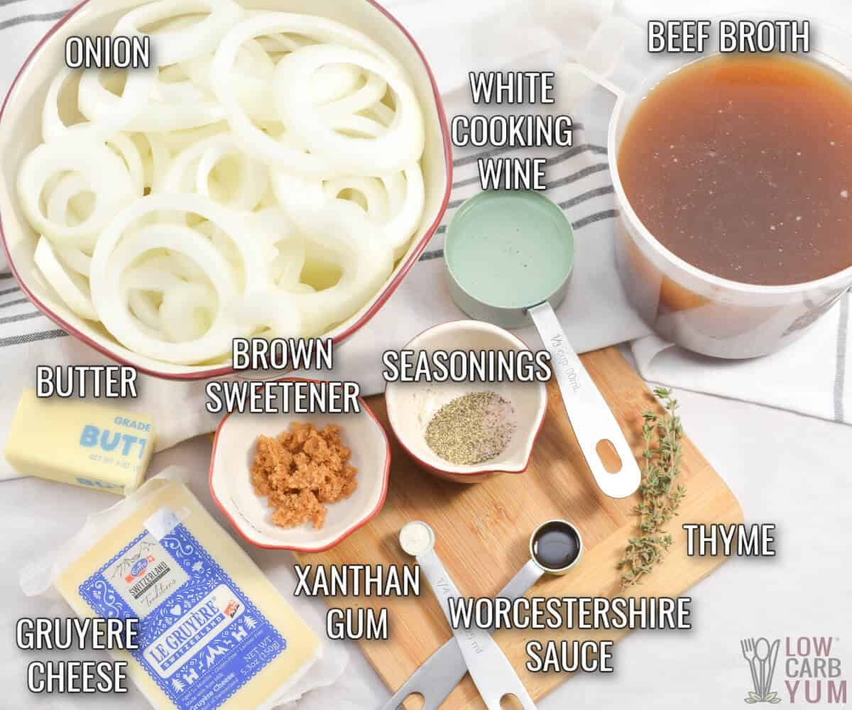 ingredients in keto french onion soup